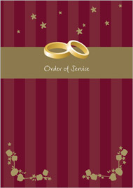 Fairytale wedding stationery order of service