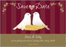 Fairytale wedding stationery save the date card
