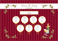 Fairytale wedding stationery table plan
