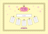Matilda wedding stationery table plan