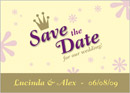 Matilda wedding stationery save the date card