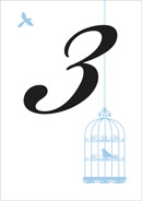 Birdcage wedding stationery table number