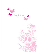 Butterfly wedding stationery thank you card