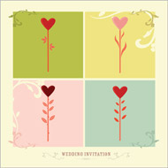 Country Love wedding stationery invitation