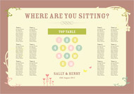 Country Love wedding stationery table plan