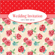 Vintage Rose wedding stationery invitation