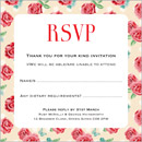 Vintage Rose wedding stationery RSVP