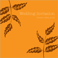 Woodland wedding stationery invitation