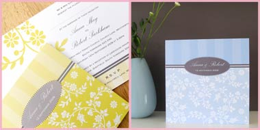 Harmony wedding stationery invitation